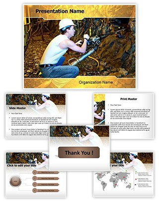 Coal Miner Editable PowerPoint Template