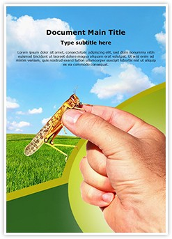 Agricultural Entomology Editable Word Template