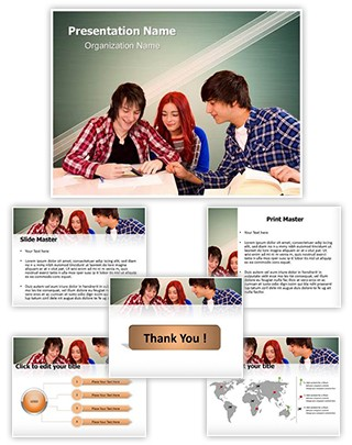 Mobile Phone in School Editable PowerPoint Template