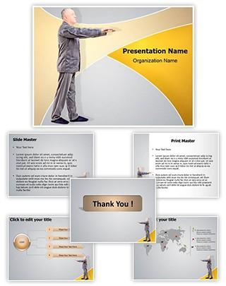 Sleepwalking in old age Editable PowerPoint Template