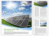 Solar Energy Editable Word Template