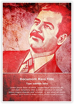 Saddam Hussain Editable Word Template