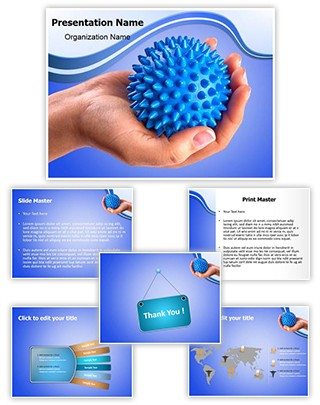Massage Ball Editable PowerPoint Template