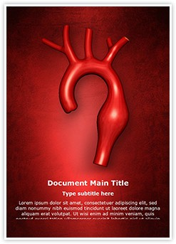 Aortic Aneurysm Editable Word Template