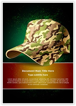 Army Cap Editable Word Template