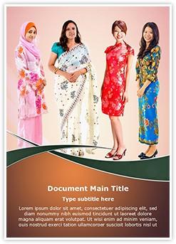 Asian Women Editable Word Template