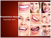 Dentistry Smiling Collage PowerPoint Templates