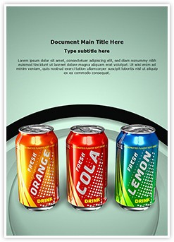 Beverage Can Editable Word Template
