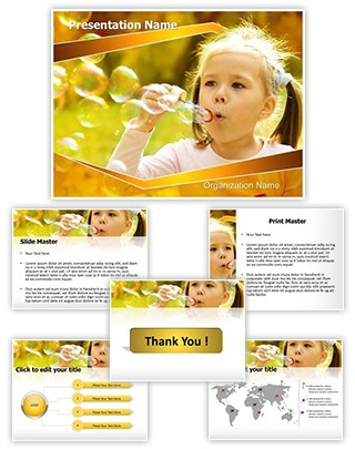Bubbles Editable PowerPoint Template