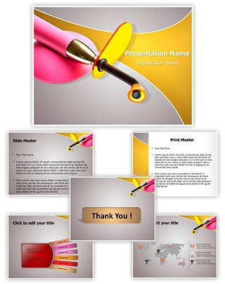 Dental Ultraviolet Light Editable PowerPoint Template