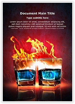 Burning Alcohol Editable Word Template