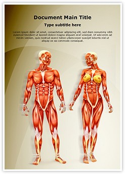 Men and Women Muscular Anatomy Editable Word Template