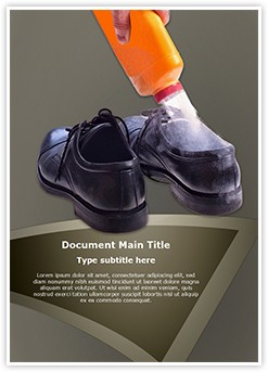 Shoe Bad Odor Editable Word Template
