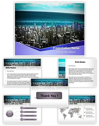 Tsunami Wave Editable PowerPoint Template