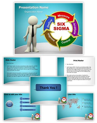 3D Six Sigma Editable PowerPoint Template