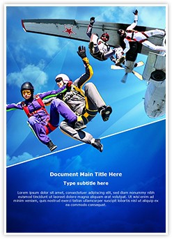 Skydiving Editable Word Template