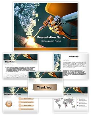 Underwater Welding Editable PowerPoint Template
