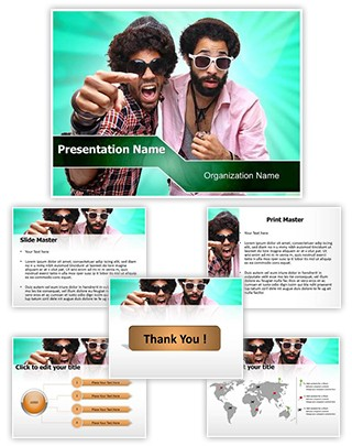 Funky Boys Editable PowerPoint Template