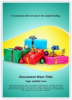 Christmas Gifts Editable Word Template