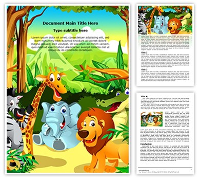 Jungle Editable Word Document Template