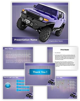 Sport Utility Vehicle Editable PowerPoint Template