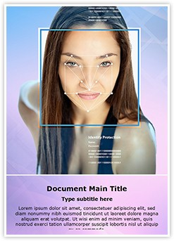 Face Recognition Editable Word Template