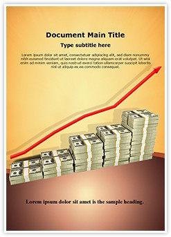 Increase in money Editable Word Template