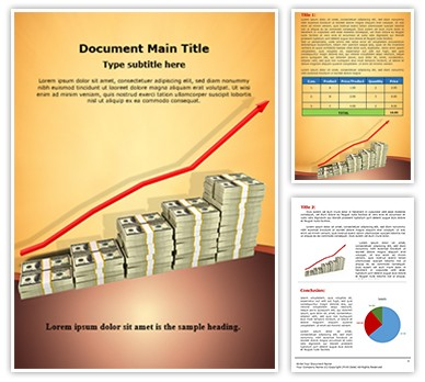 Increase in money Editable Word Document Template