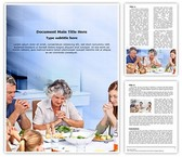 Family Meal Prayer Editable Word Template
