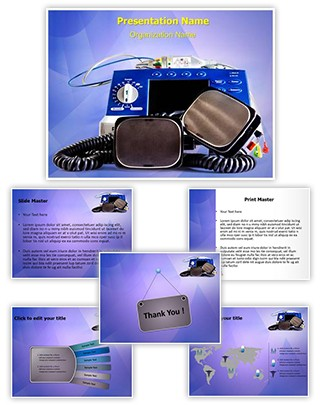 Defibrillator Editable PowerPoint Template
