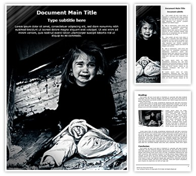 Child Sex Trafficking Editable Word Document Template