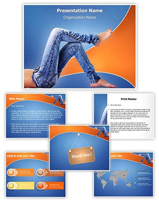 Denim Jeans Editable PowerPoint Template