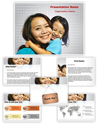 Mother Daughter Editable PowerPoint Template