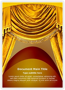 Curtain Curves Editable Word Template