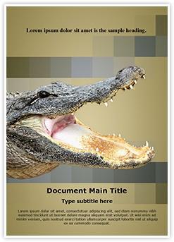 Alligator Editable Word Template