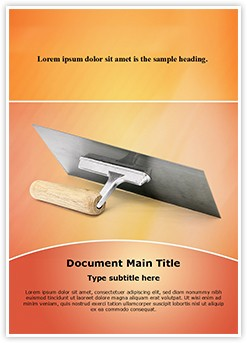 Trowel Editable Word Template
