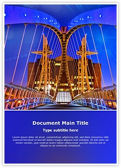Salford Quays lift bridge Editable Word Template