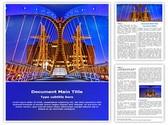 Salford Quays lift bridge Editable Word Template