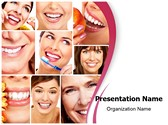 Healthy Teeth Collage PowerPoint Templates