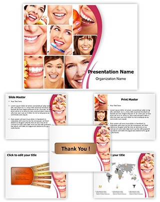 Healthy Teeth Collage Editable PowerPoint Template