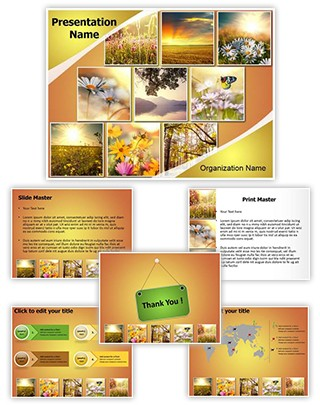 Summer Flower Collages Editable PowerPoint Template