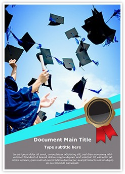 High School Graduation Editable Word Template