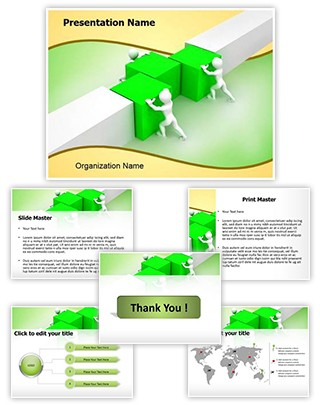Working in Team Editable PowerPoint Template