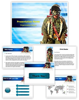 Fighter Pilots Suit Editable PowerPoint Template