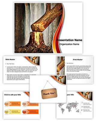 Tree Cutting Deforestation Editable PowerPoint Template