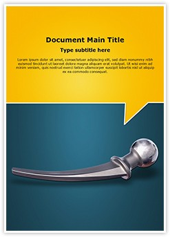 Hip Replacement Metal Editable Word Template