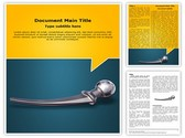 Hip Replacement Metal Template