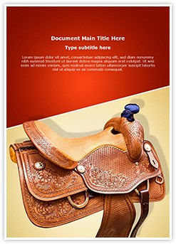 Horse Saddle Editable Word Template