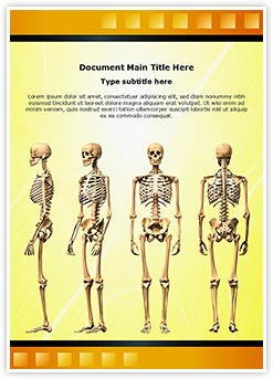Human Skeleton Editable Word Template