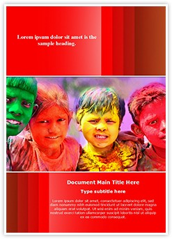 Indian Holi Celebration Editable Word Template